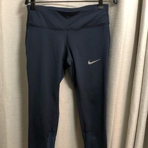Nike running crops- XS, bluish grey